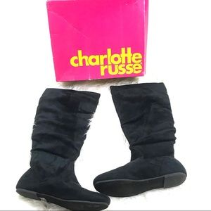Charlotte Russe Vanessa SD Suede Flat Boots Shoes